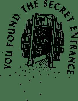 library secret entrance illustration