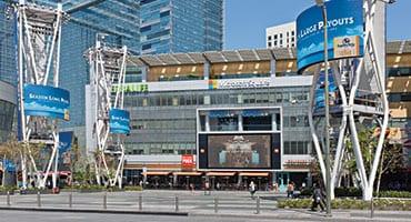exterior photo of Microsoft Square in downtown LA