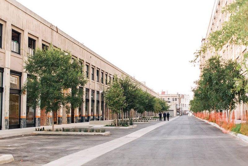 long walkway between two buildings