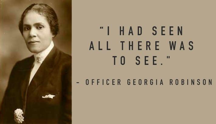 Georgia Ann Robinson portrait photo & quote