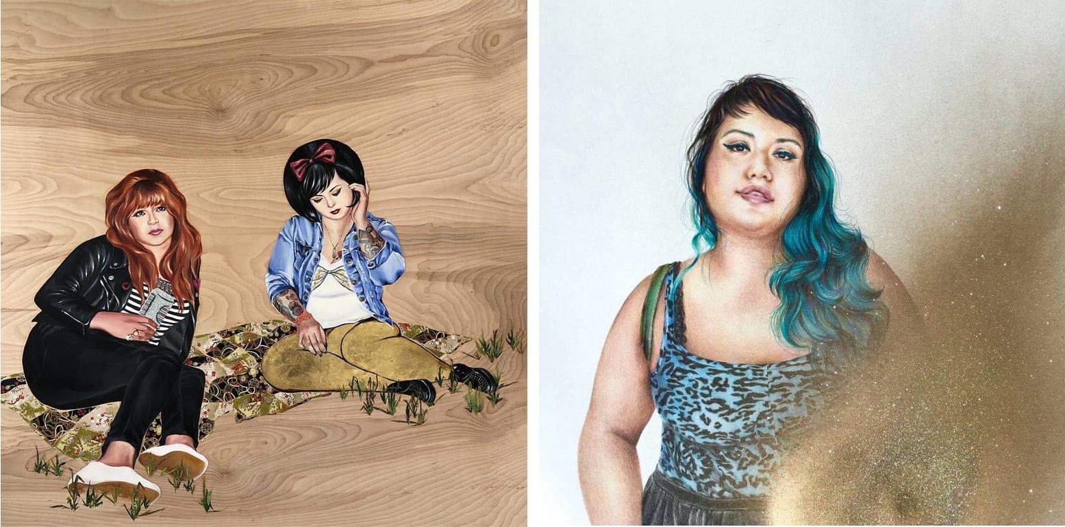 Works by Shizu Saldamando.