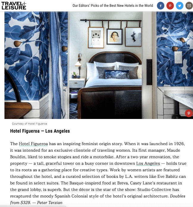 travel and leisure article merrion row