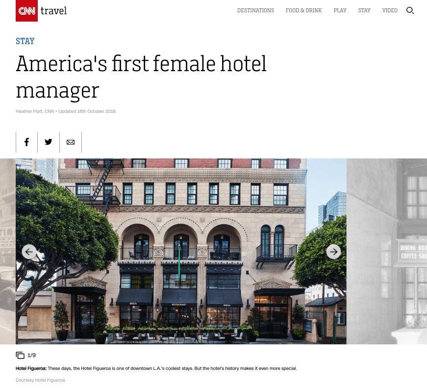 America's First Female Hotel Manager