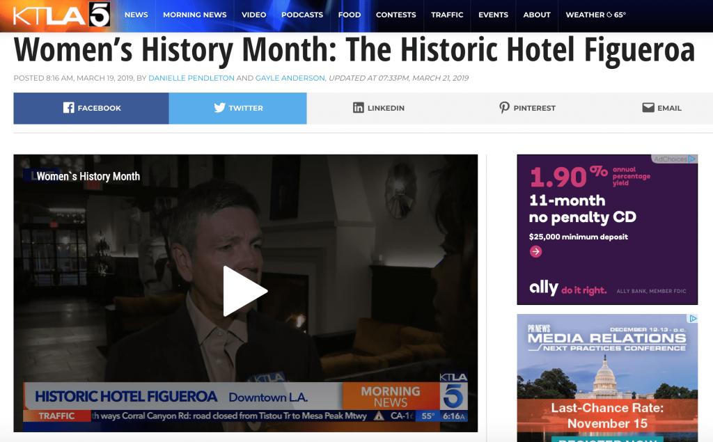 Nbc-4: Hidden Bar And A Selfie Wall At Hotel Figueroa  Copy